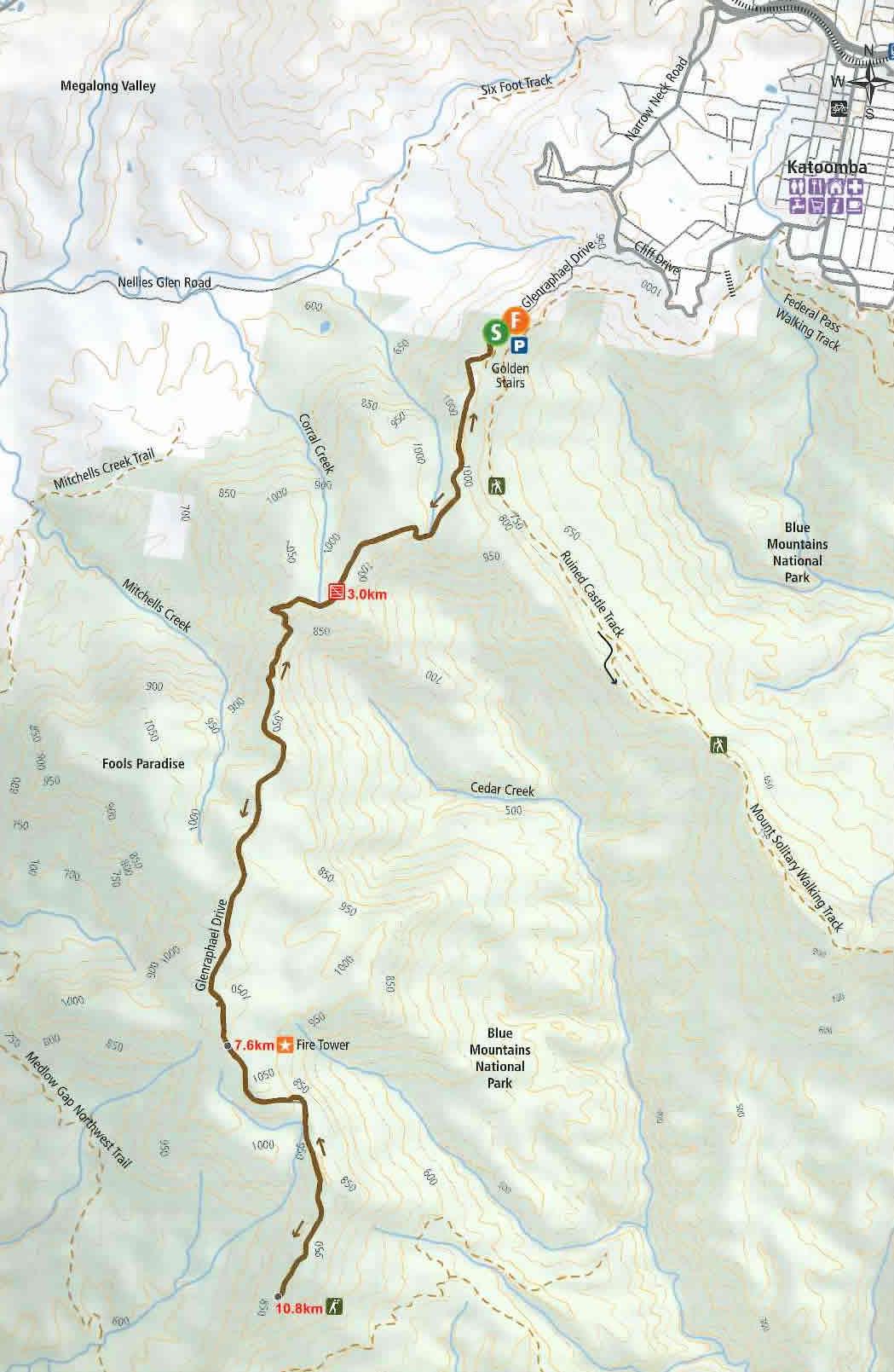 Narrowneck Map